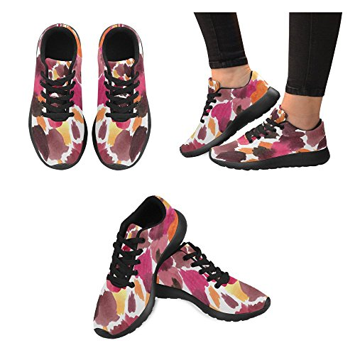 InterestPrint Womens Road Running Shoes Jogging Lightweight Sports Walking Athletic Sneakers Color Ink zGGsa