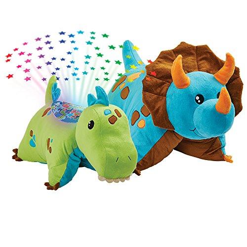 Pillow Pets Dinosaur Slumber Pack - Blue Dino Classic & Green Dino Sleeptime Lites