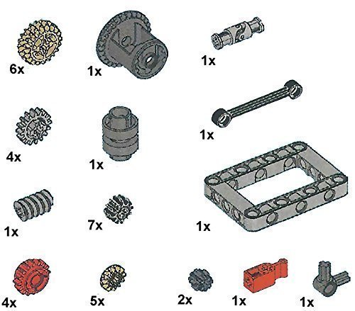 LEGO Technic Gears and Transmission Parts Pack