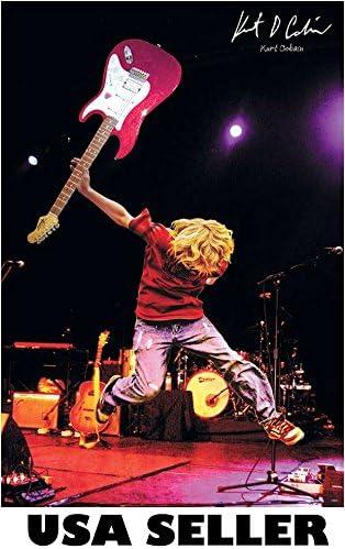 Nirvana KURT COBAIN Original Poster Grunge Art Print 11x17 FREE FAST SHIPPING