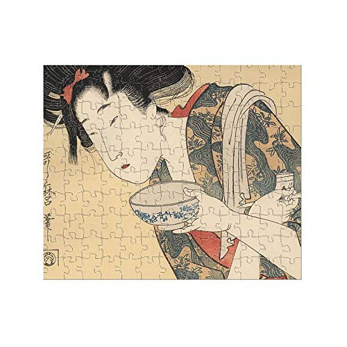Media Storehouse 252 Piece Puzzle of Japanese Woodblock Print of Young Woman 1790 (18126201)