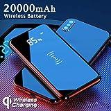Aoile 20000mAh Power Bank Qi de Carga inalámbrica de Doble USB LED Cargador de batería portátil