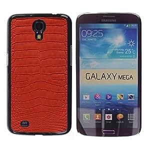 TECHCASE**Cubierta de la caja de protección la piel dura para el ** Samsung Galaxy Mega 6.3 I9200 SGH-i527 ** Texture Textile Red Design Pattern Art