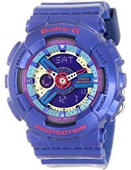 G-Shock BA-112-2ACR BA-110 Baby-G Blue Series Womens Stylish Watch - Blue/Purple / Small