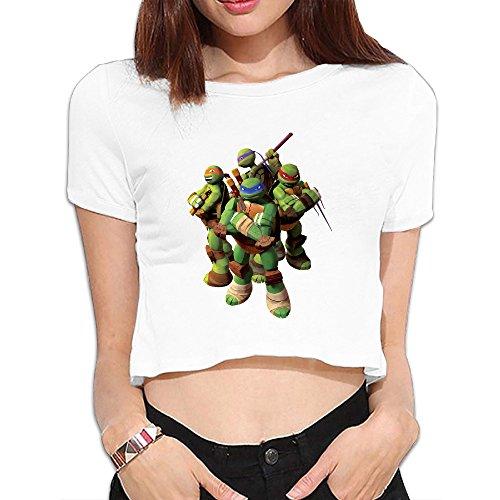 TLK Custom Women Turtles Crop Top (Krang Hoodie)
