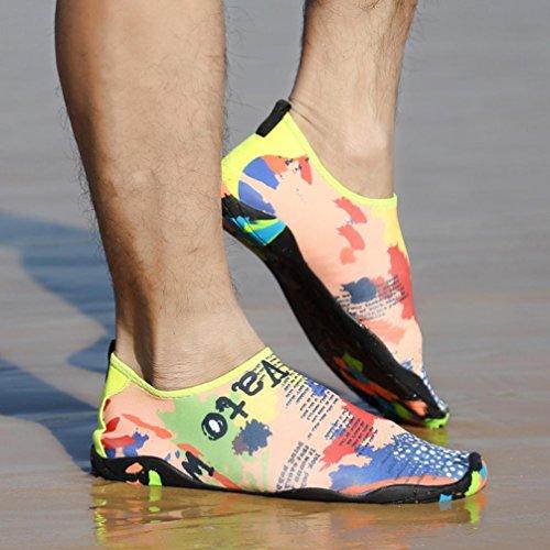 Yoyorule Unisex Scarpe Acqua Pelle A Piedi Nudi Flessibili Calze Aqua Per Beach Swim, Immersioni, Snorkeling, Running Trainers, Surf Yoga Exercise Multicolor