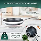 HexClad Hybrid Cookware 8 Inch Non Stick Stainless