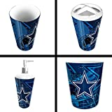 The Northwest Company Dallas Cowboys NFL 4 Piece Bathroom Decorative Set (Scatter Series)