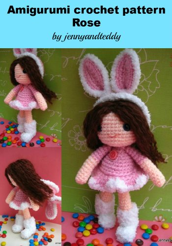 amigurumi bunny girl Rose crochet pattern ()