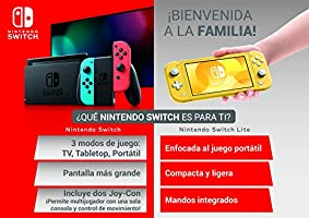 Nintendo Switch - Consola color Azul Neón/Rojo Neón: Amazon ...