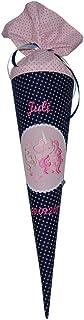 Schultüte mit Namen und Einhorn von Lieblingsstücke 4330 - wandelbare Stoffschultüte in ein Kissen