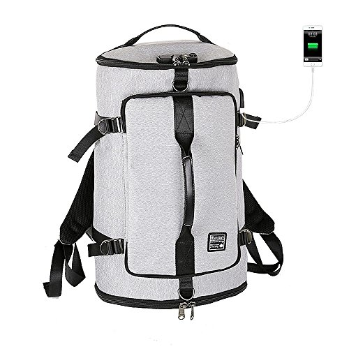 Decha Business Laptop Backpack Anti Theft Waterproof Travel Backpack USB Charging Port & Headphone Interface College Student