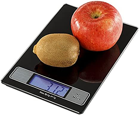 Sonvadia Digital Balance De Cuisine Surface De Verre Plat 10 Kg Noir Ou Blanc Noir Amazon Ca Home Kitchen