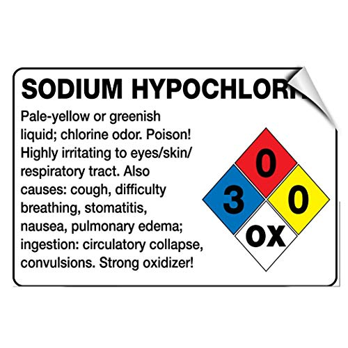 - Label Decal Sticker Sodium Hypochlorite Irritating Eyes Skin Respiratory Tract Durability Self Adhesive Decal Uv Protected & Weatherproof