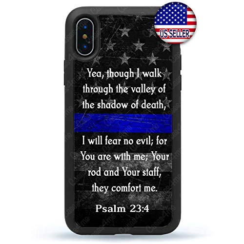 Thin Blue Line Phone Case Police Sheriff Prayer USA Flag Slim Shockproof Custom Cover for iPhone X Xs Max XR 8 Plus 7 6