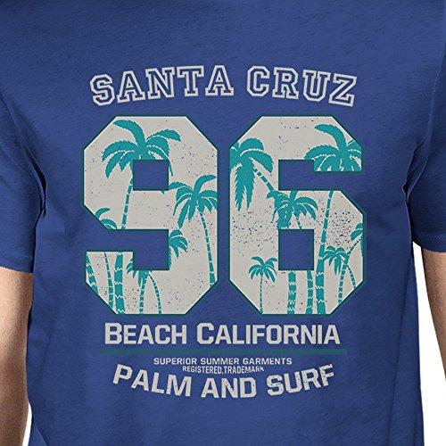 o de Beach Printing Camiseta Un corta 365 California para tama manga Santa Blue hombre Cruz FzxwwB7