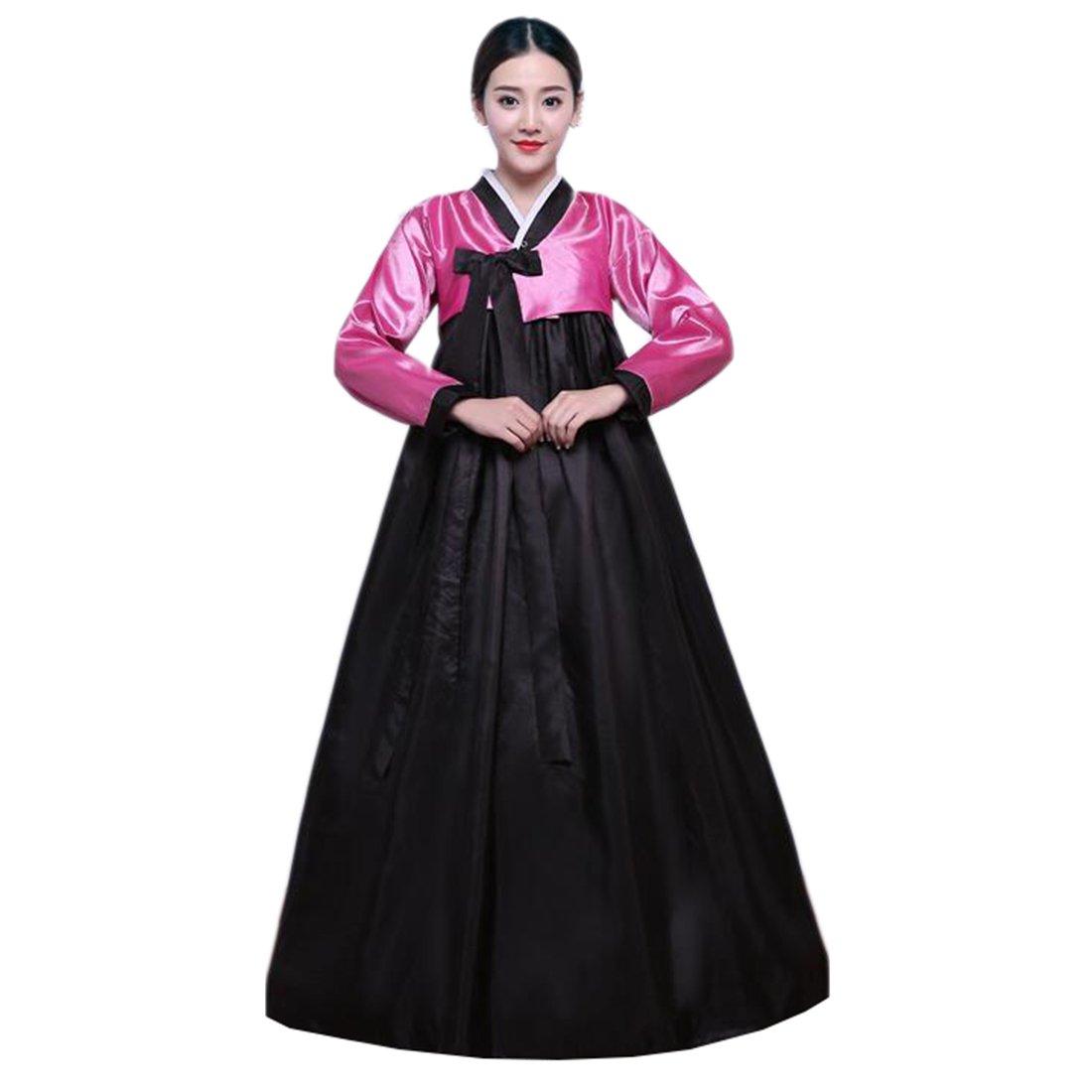 Ez-sofei Women's Korean Traditional Costume Embroidered Hanboks S Green&White