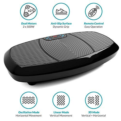 Bluefin Fitness Dual Motor 3D Vibration Platform   Oscillation, Vibration + 3D Motion   Huge Anti-Slip Surface   Bluetooth Speakers   Ultimate Fat Loss   Unique Design   Get Fit at Home by Bluefin Fitness (Image #7)