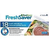 Foodsaver FSFRBZ0216-033 Quart Size Zipper Bags