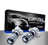 OPT7 5202 CREE LED DRL Fog Light Bulbs - 10000K Deep Blue- Plug-n-Play (Pack of 2)