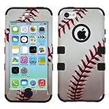 iPhone 5C Case - Wydan (TM) TUFF Impact Hybrid Hard Gel Shockproof Case Cover For Apple iPhone 5C - Baseball