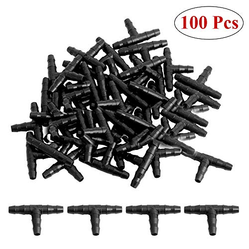 Kalolary Drip Irrigation Barbed Connectors -100pcs 1/4