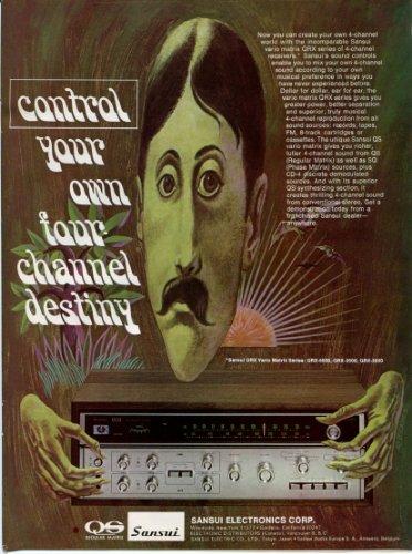 1973 SANSUI Four Channel Receiver Vintage Retro Original Ad (Vintage Receiver Sansui)