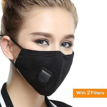 Men's Accessories Face Mask Cotton Mouth Mask Black Anti Haze Dust Masks Filter Windproof Mouth-muffle Bacteria Flu Fabric Cloth Respirator &2