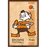 Trends International Cleveland Browns Retro Logo Wall Poster 22.375