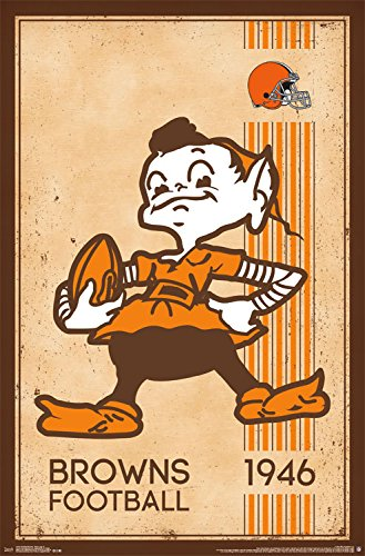 Wall Browns Cleveland - Trends International Cleveland Browns Retro Logo Wall Poster 22.375