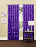 Lush Decor Gigi Single Window Curtain Panel, 84″ x 50″, Purple Review