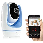 Fosbaby Digital Video Baby Monitor by Foscam - HD 720P, Night Vision, Two-Way Audio, Plug and Play, Lullaby Function, Temperature Monitor, and More (Blue)