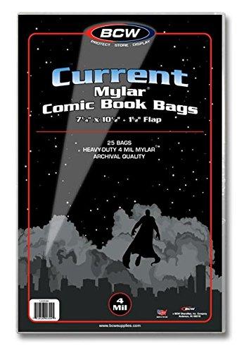 Mylar Comic Bags - BCW 1-CUR-M4 Current Comic Mylar Archivals - 4 Mil