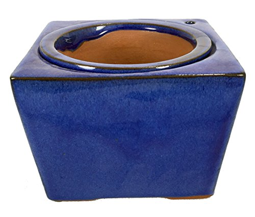 Self Watering Glazed Square Ceramic