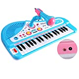 Educational 37 Keys Musical Toy Keyboard Instrument Piano for Kids Multi-function with Microphone