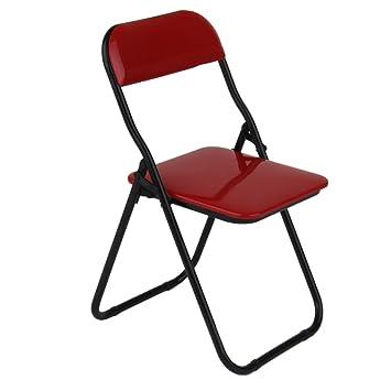 Amazon.com: 1/6 rojo silla plegable para soldados figura de ...