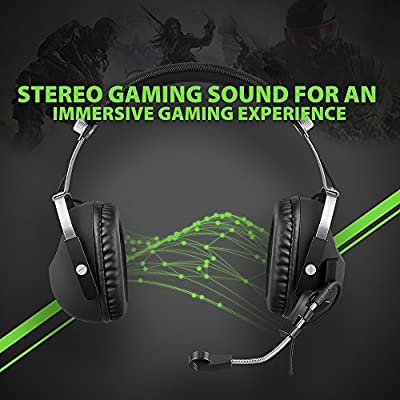 7.1 Surround and Mic Remote, AudioMX Over-Ear Sound Isolation Gaming Headset for XBOX One / PS 4 / XBOX 360 / PS 3 / PC (Detachable Adapter for RCA / USB / 3.5 mm)
