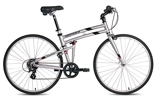 New Montague Crosstown Folding 700c Pavement Hybrid Bike Boulder Gray 17″