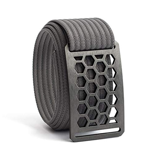 38 Inch Honeycomb Belt Buckle w/Grey Strap