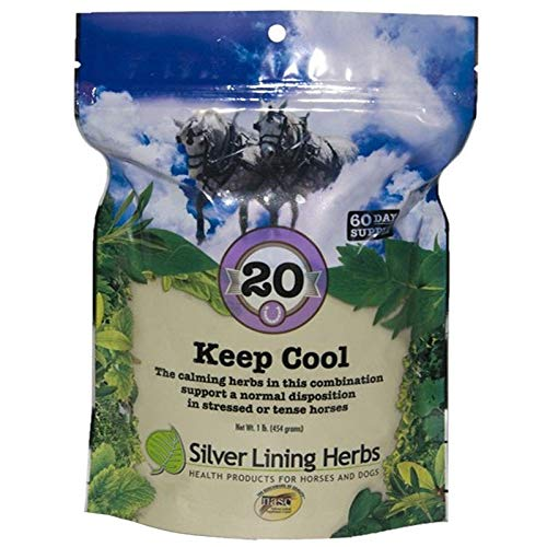 Keep Cool | Supports Calming Anxious and Excitable Horses |  | Helps Maintain Contentment and Relieve Stress || 1 Pound Bag  | Keep Cool Equine Calmer is Made In USA by Silver Lining Herbs ()