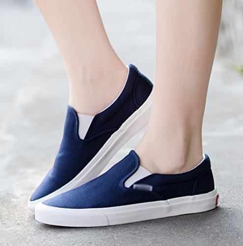 Blu uomo uomo scarpe estate scarpe da da scarpe scuro da scarpe traspirante pigri casual uomo uomo da WFL Scarpe scarpe da uomo Rx6FqF