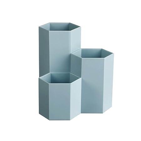 colore blu ideale per studio // ufficio forma esagonale portapenne da scrivania Toymytoy