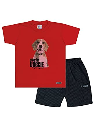 2a4be9cb8246 Amazon.com  Pulla Bulla Toddler Boy Outfit Graphic Tee and Shorts ...