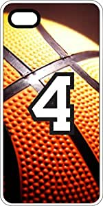 Basketball Sports Fan Player Number 4 White Plastic Decorative iPhone 6 PLUS Case