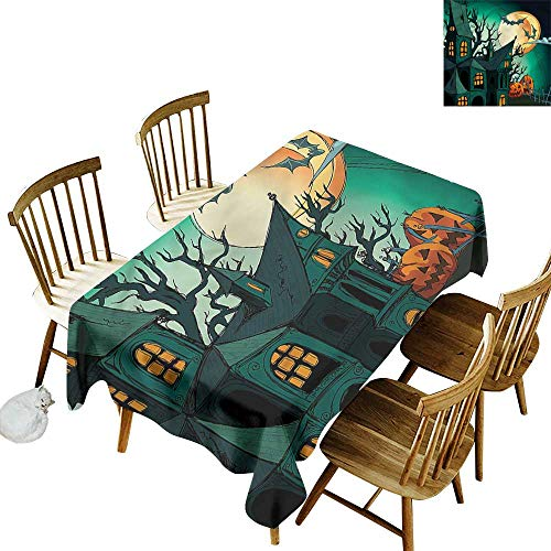(one1love Fashions Rectangular Table Cloth Halloween Halloween Haunted Castle Fashions Rectangular 60