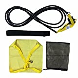 ZEYU Sports Swimming Belt for Stationary Resistance Training Endless Pool with Drag Parachute and Elastic Tether