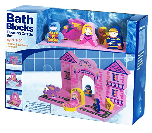 BathBlocks Floating Castle Set in Gift - Tower Stores In Place Water