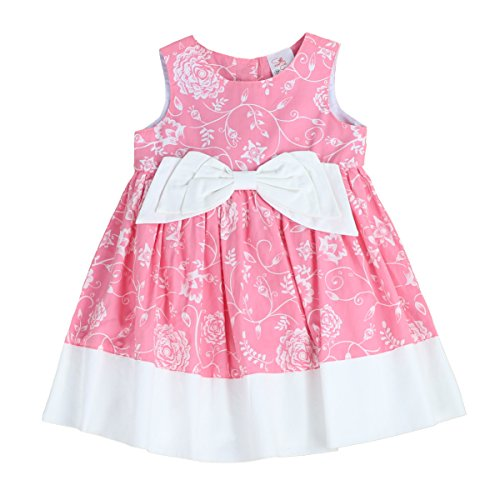THE SILLY SISSY - Toddlers and Girls Bow-TERFLY Dress | Pandora Peterson's Floral in Hot Pink 3T