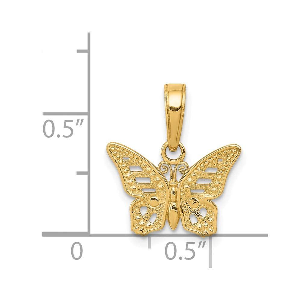 14k Cut-Out Butterfly Pendant