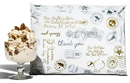 10x13 Pack of 100 Butter Pecan Postmark Designer Boutique Durable Poly Mailers a la Mode